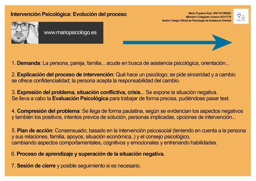 Intervención Psicológica: evolución del proceso